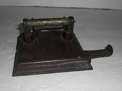 Antique Vintage 2 Hole Adjustable Paper Punch Unmarked Office Supplies School
