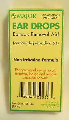 Major Ear Drops Earwax Removal-15Ml-Compare To Debrox
