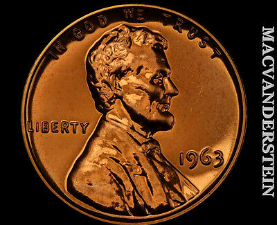 1963 Lincoln Memorial Cent- Gem Proof !! Luster !! #p376