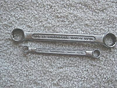 2 x VERY HANDY SIDCHROME AF DWARF RING SPANNERS Made in Aust. 10 series