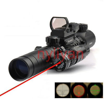 3-9X32EG Rifle Scope+1x22x33 Holographic Scope Reticle 2+Red Laser Sight+Mount