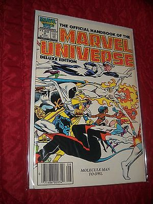 The Official Handbook Of The Marvel Universe Deluxe Ed. # 9 Tough 6.0 Fn 1986