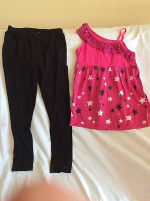 Justice Girls Size 14 Sparkle Top / Leggings Outfit - Trendy Style