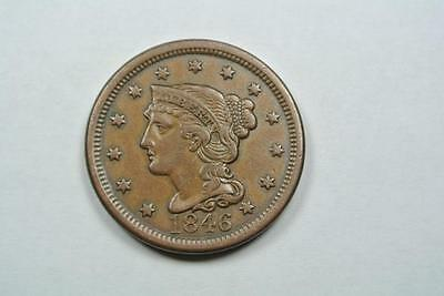 1846 Braided Hair Large One Cent, XF Condition - C2646