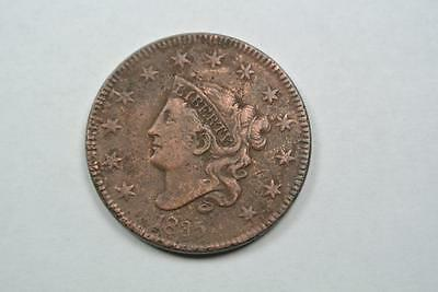 1835 Coronet Head Large One Cent, VF Details  - C2633