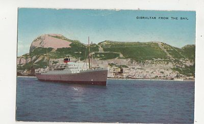 Gibraltar From The Bay Vintage Postcard 198b