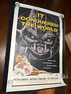 It Conquered The World  Original One Sheet On Linen  Sci Fi   Beverly Garland