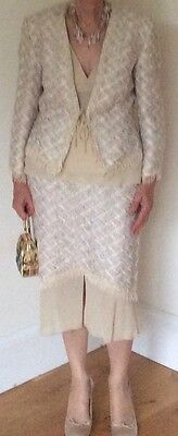 Elegant Mother of Bride/occasion MICHEL AMBERS 4 piece skirt suit UK10/12