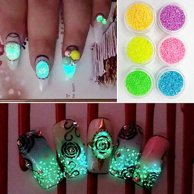 HOT DIY Metal Powder Glitter Dust Set For UV Gel Acrylic Nail Art Decoration