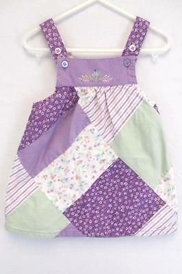 Baby Girl Toddler Janie and Jack Purple Patchwork Quilt Dress 12 to 18 Months