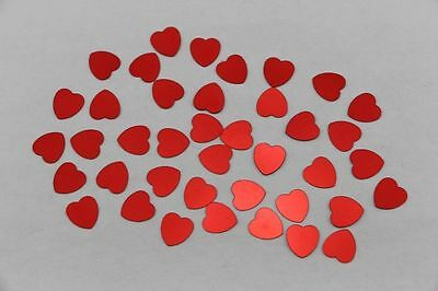 1500 red heart-shaped wedding table confetti foil sequins scattered parties G
