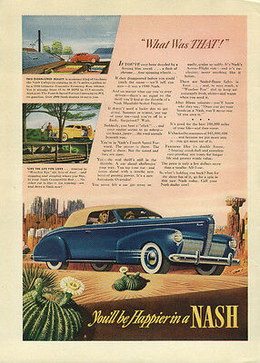 What was THAT? Nash Convertible Coupe ad 1940