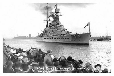rp14298 - Royal Navy Warship - HMS Repulse Arrival at Portsmouth - photo 6x4