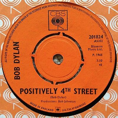 Bob Dylan: Positively 4Th Street/from A Buick 6
