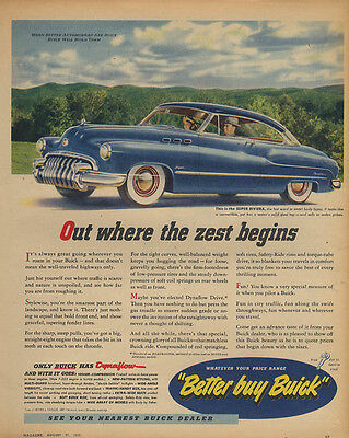 Out where the zest begins Buick Super Riviera ad 1950