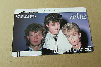 A-Ha Norway Scoundrel Days On Rare Mint Unused Phonecard From Japan