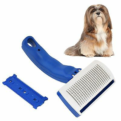 Pet Self Cleaning Grooming Comb Hair Brush Trimmer Set Cat Kitten Dog Puppy