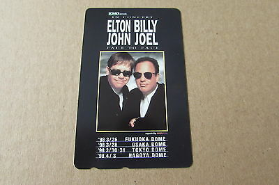 Elton John Billy Joel On Mint Unused Phonecard From Japan