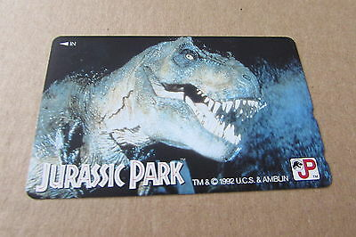Jurassic Park Dinosaur Movie On Mint Unused Phonecard From Japan
