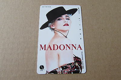 Madonna Hat On Mint Unused Phonecard From Japan 2
