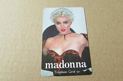 Madonna Hat On Rare Mint Unused Phonecard From Japan