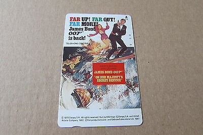 On Her Majestys Secret Service Bond Mint Unused Phonecard From Japan