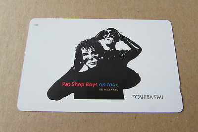Pet Shop Boys On Tour On Mint Unused Phonecard From Japan
