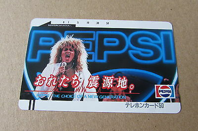 Tina Turner Pepsi Very Rare Mint Unused Phonecard From Japan