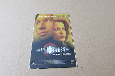 X Files Sixth Season  Duchovny Anderson On Mint Unused Phonecard From Japan