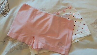 2 Pairs of Girls Boy Pants BHS Brand New age 11-13 Pink & White