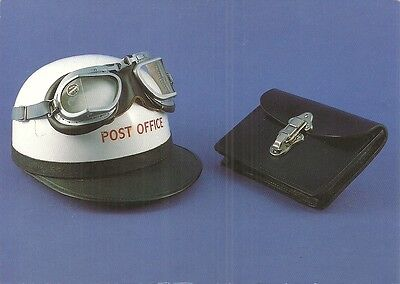 Postal Artefacts - Helmet & Goggles Worn By Messenger Boys Who Rode On Motercycl
