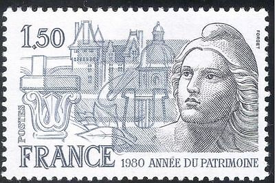 "France 1980 Heritage Year/""Marianne""/Buildings/History/Animation 1v (n43375)"