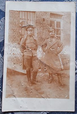 1st World war real photo Postcard OF  2 soldiers
