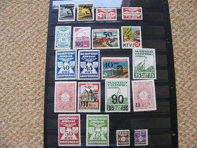 Denmark Railway stamps Lot of 20 different all MNH as pictured