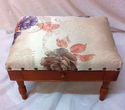 Possibly Vintage Small Sewing Storage Stool / Pin Cushion