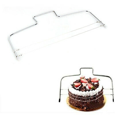 1x Double Wire Slicer Cake Cutter Bread Cutting Leveller Decorating Divider Tool