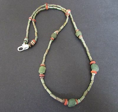 NILE  Ancient Faience Amulet Mummy Bead Necklace ca 1000 BC
