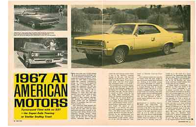 1967 American Motors  ~  Original 5-Pg New Car Preview Article / Ad