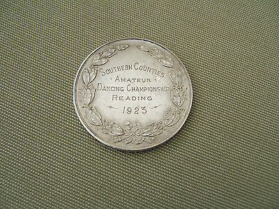 1923 Large Silver Medal.. Southern Counties Amateur Dancing Championships