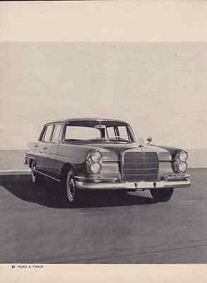 1960 Mercedes-Benz 220 Se ~ Original 5-Page Road Test / Article / Ad