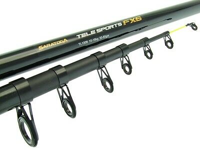 SARATOGA TELESPORTS FX6 8' 5-12kg 6pc Fibreglass Spinning Telescopic Fishing Rod