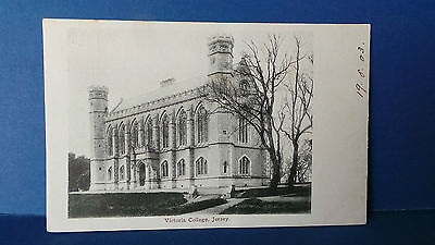 Jersey Channel Islands Postcard Victoria College 19th August 1903 No Publisher
