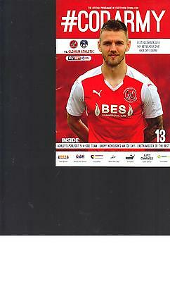 PROGRAMME - FLEETWOOD TOWN v OLDHAM ATHLETIC - 31 DECEMBER 2016
