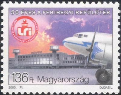 Hungary 2000 Airport/Aviation/Planes/Aircraft/Transport/Buildings 1v (n45552)