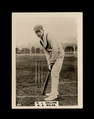 """PHILLIPS 1924 SCARCE ( CRICKET ) TYPE CARD """" # 9.c  H.L. COLLINS -- CRICKETERS """""""