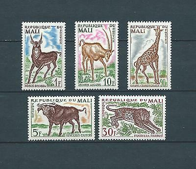 MALI - 1965 YT 71 à 75 ANIMAUX SAUVAGES - TIMBRES NEUFS* charnière