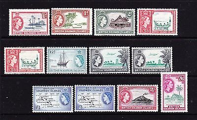 Br/solomon Isl'. Qe2. 1956 Part Set. L/m/mint.