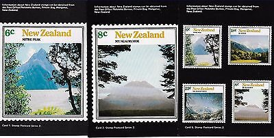 New Zealand 1973 Mountain Scenes set of 5 mint postcards