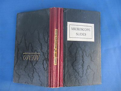 Original MICROSCOPIST 's Antiquarian Book / Cataologue of Microscope Slides