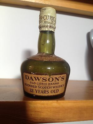 Rare Peter Dawson Old Curio Blended Scots Empty Whisky Miniature Bottle - 4""